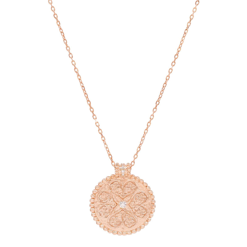 Rose Gold Believe in Luck Necklace