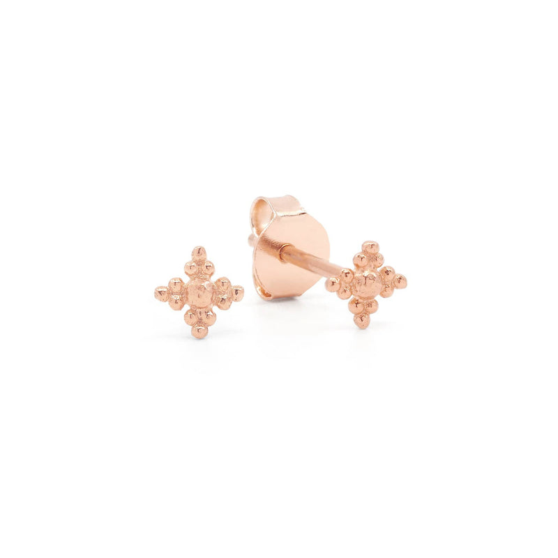 Rose Gold Blessed Earrings