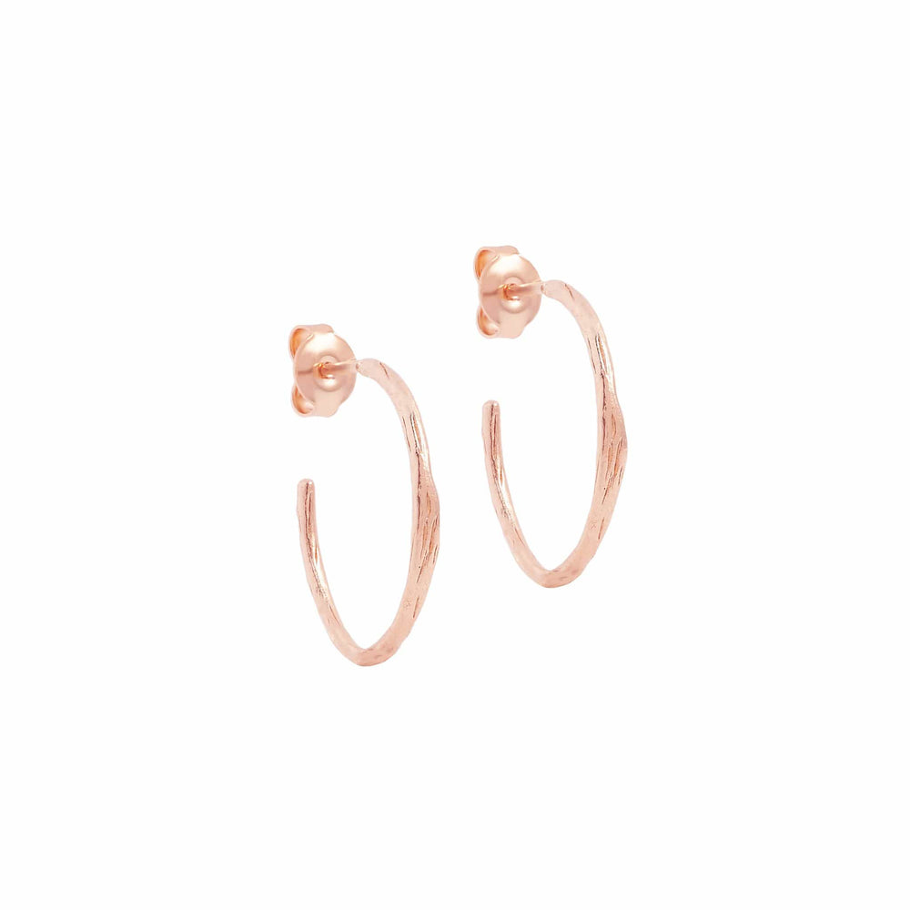 Rose Gold Devotion Hoops