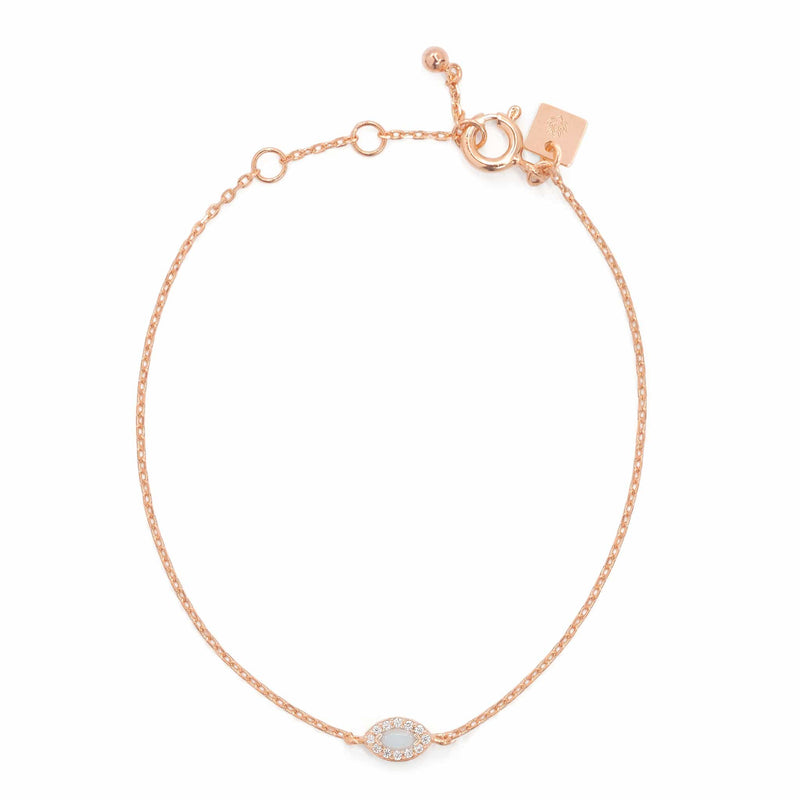 Rose Gold Eye of Protection Bracelet