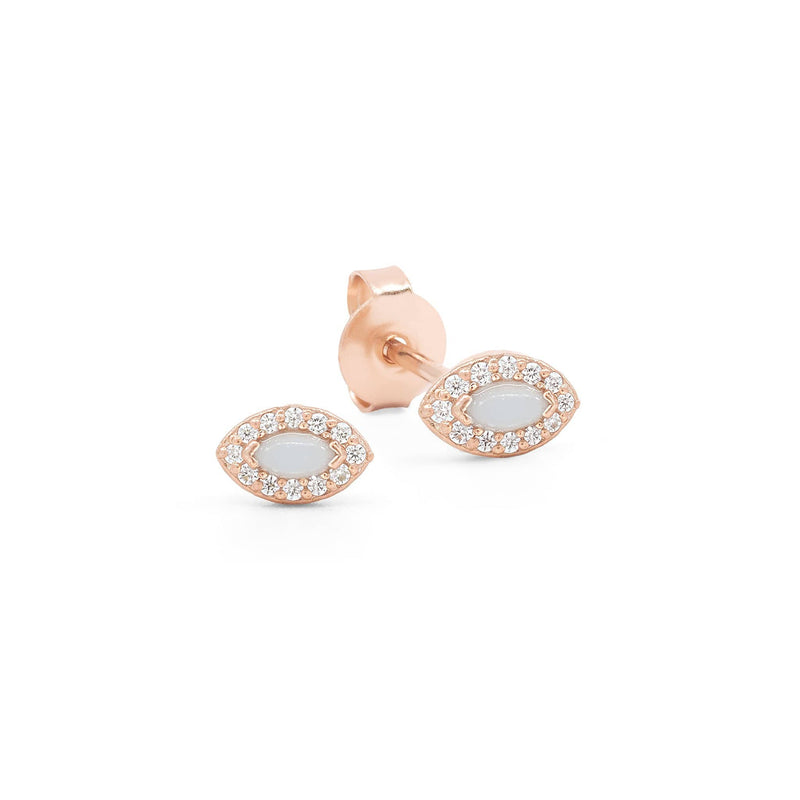 Rose Gold Eye of Protection Earrings