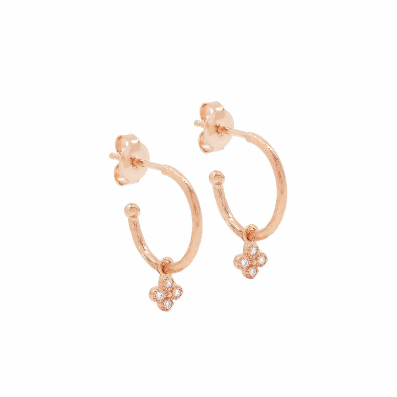 Rose Gold Luminous Hoops