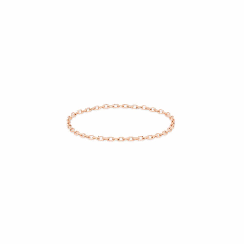 14k Rose Gold Purity Chain Ring