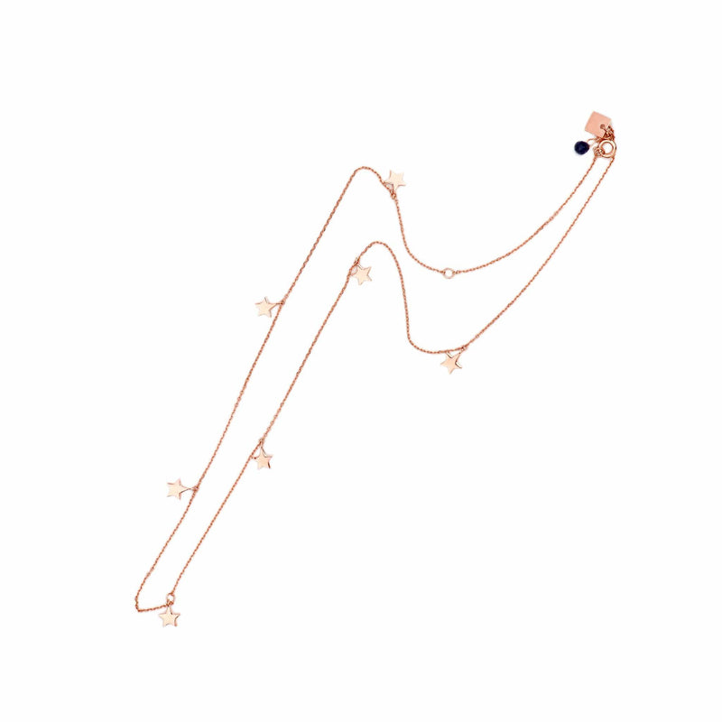 Rose Gold Star Bright Necklace
