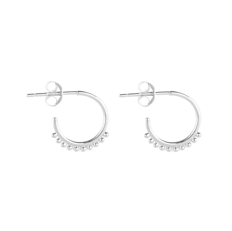Silver Cherish Hoop Earrings
