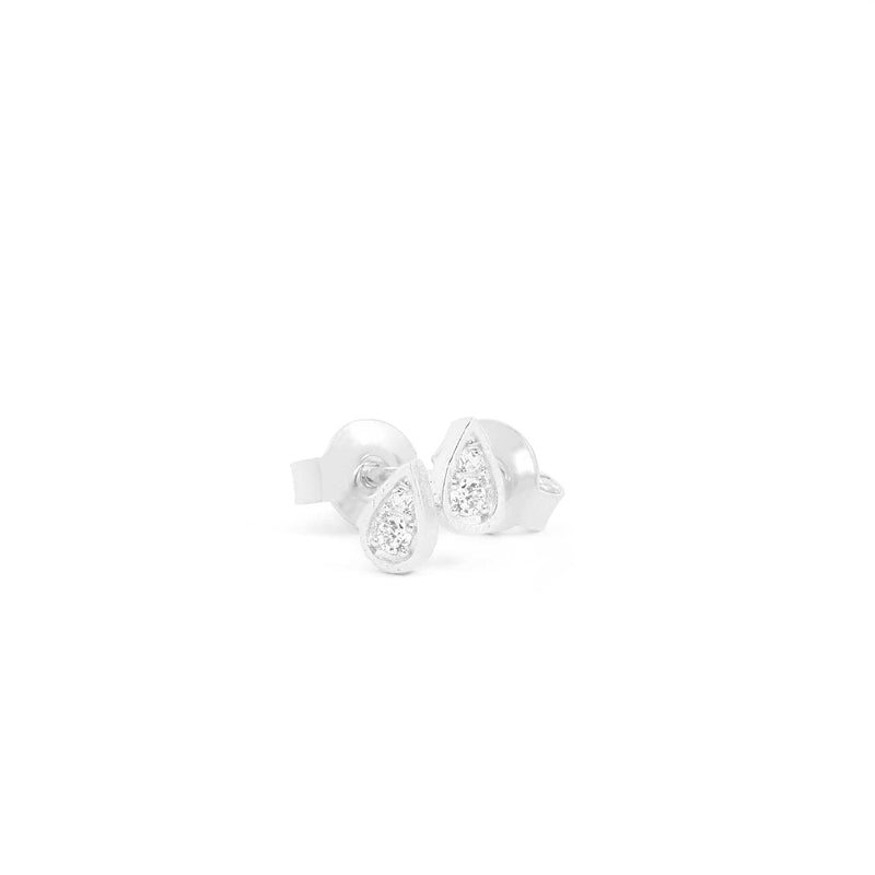 Silver Illuminate Stud Earrings