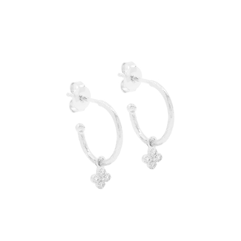 Silver Luminous Hoops