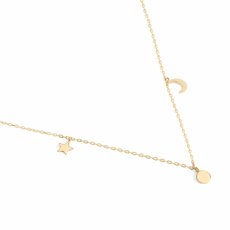14k Gold Sky Necklace
