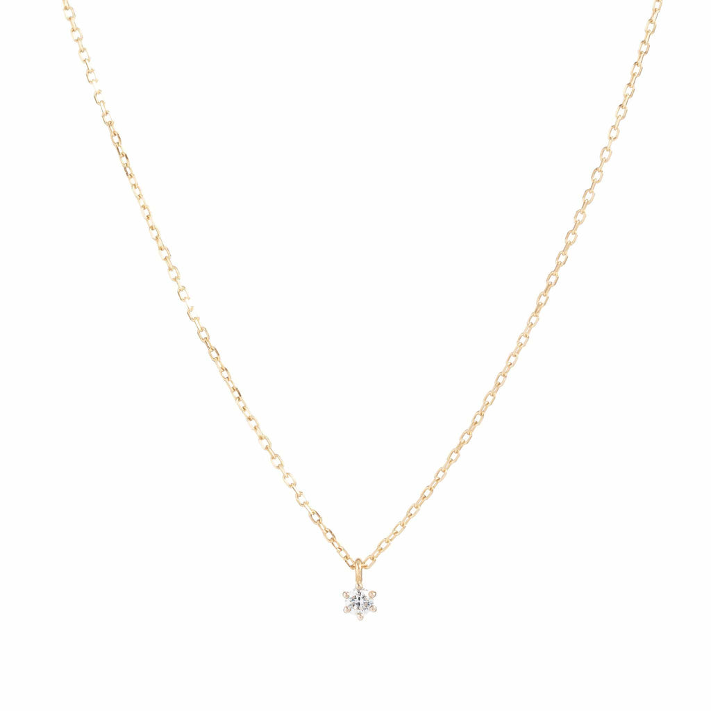 14k Gold Sweet Droplet Diamond Necklace
