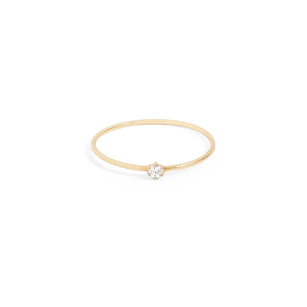 14k Gold Sweet Droplet Diamond Ring