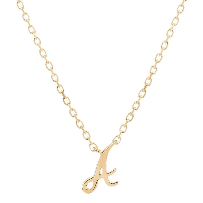 14k Gold Love Letter Necklace