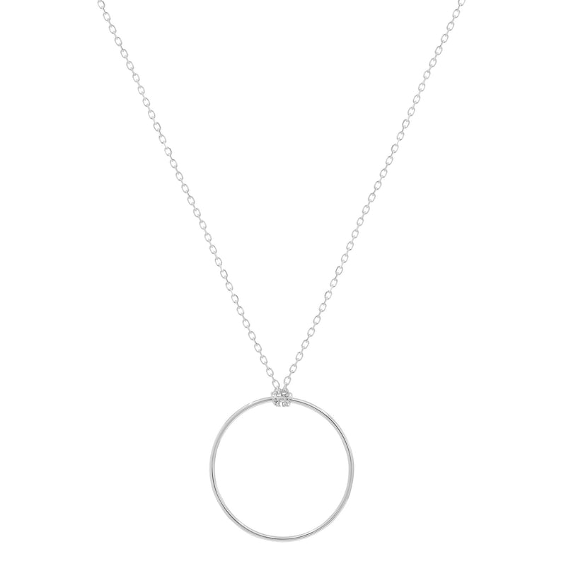 14k White Gold Purity Necklace