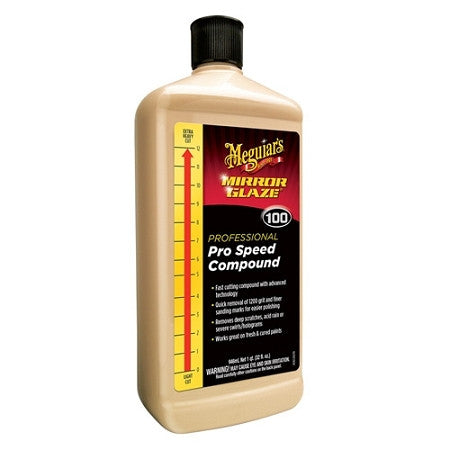 Meguiars M100 Mirror Glaze Pro Speed Compound 32 oz - Detailer's Domain