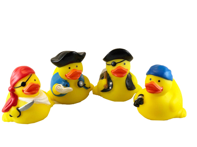 4 Pcs Pirate Rubber Duck Set (Styles May Vary)