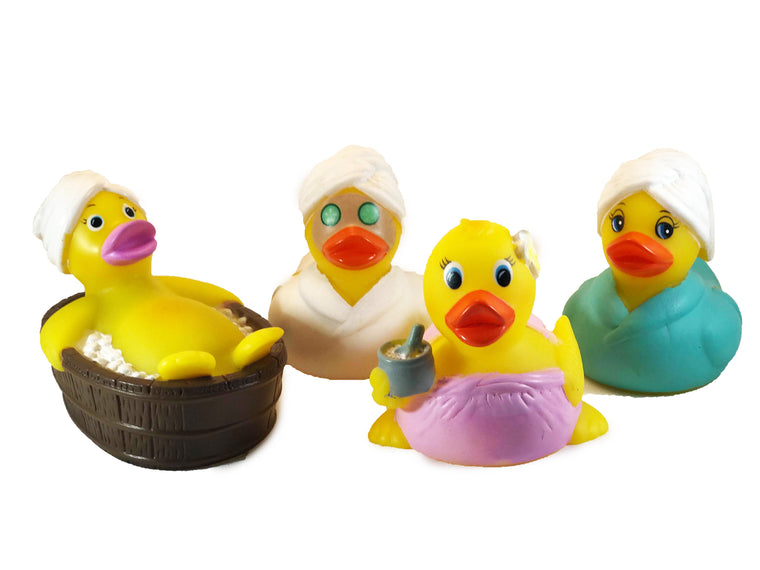 4 Pcs Rubber Duck Spa Collection