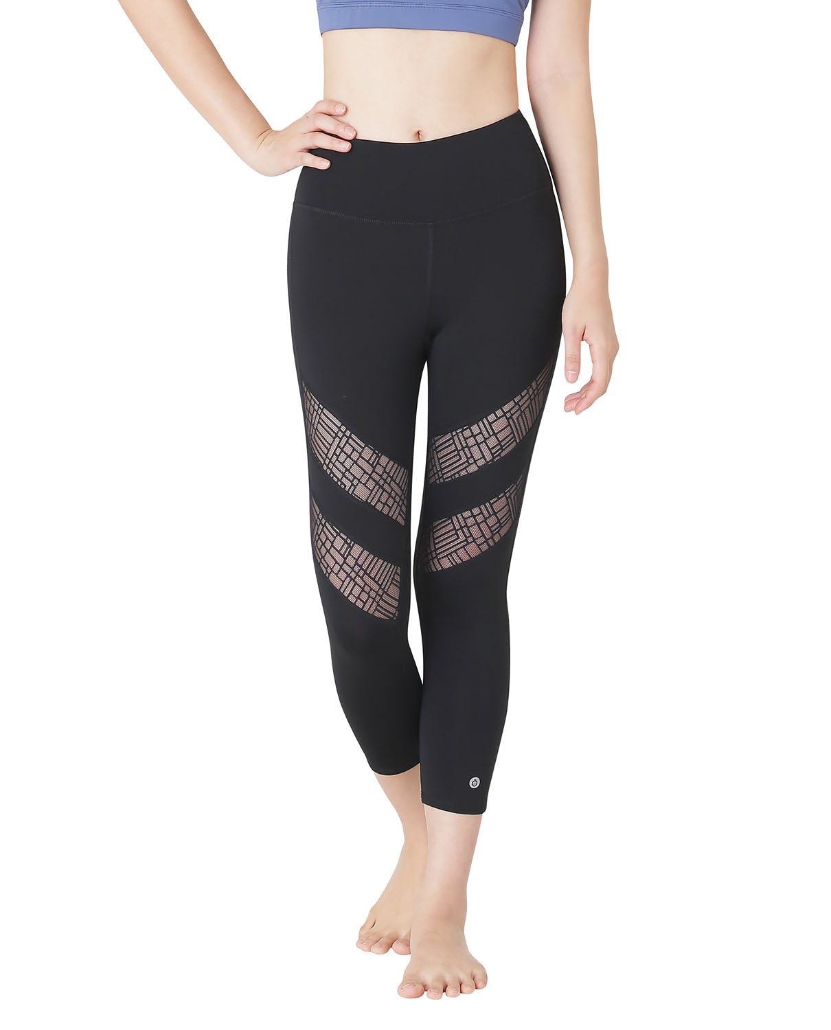 Lace Capri Black