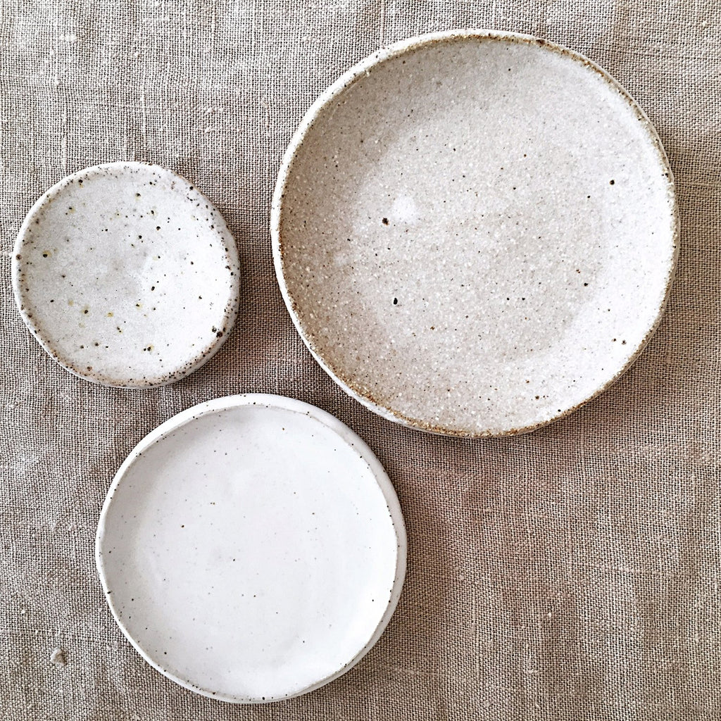 Splendid Wren handmade stoneware three dish set