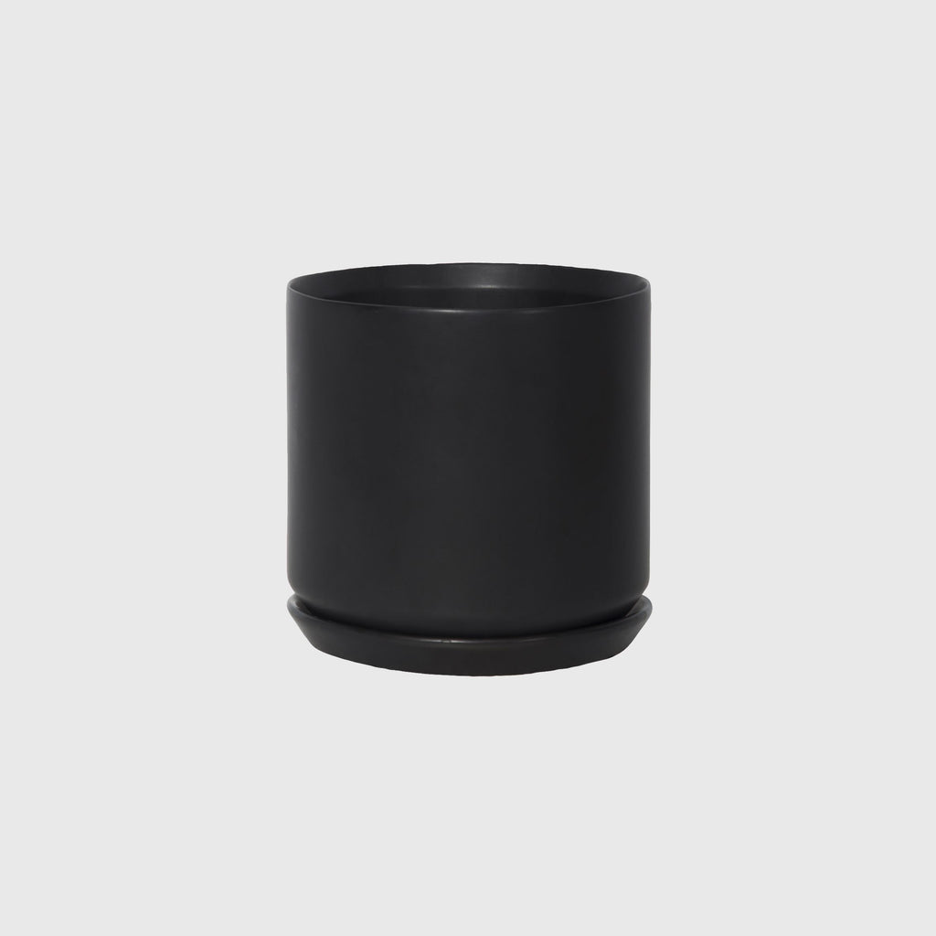 Potted LRG Oslo Planter Jet Black