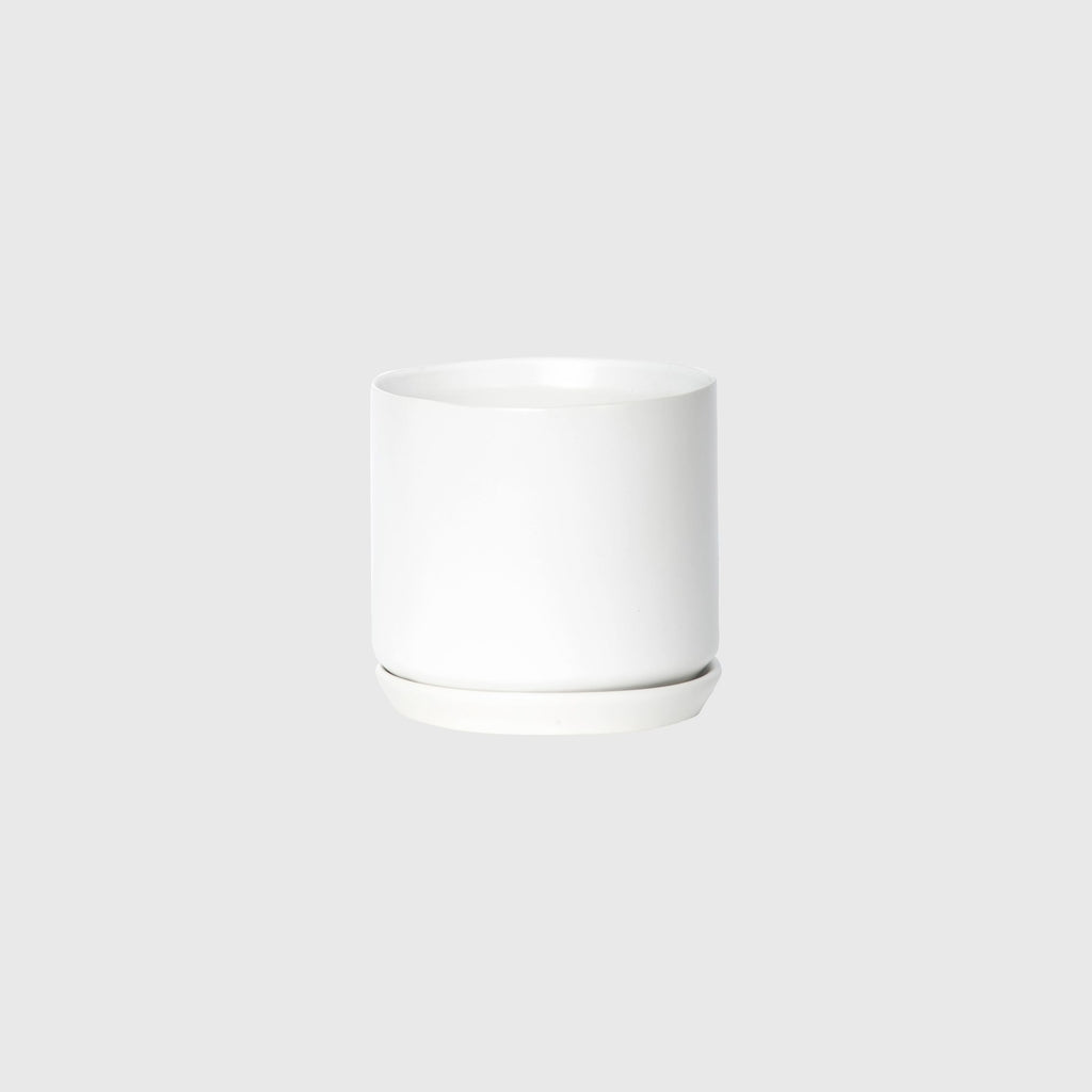 Potted MED Oslo Planter Ice White