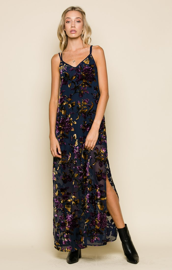 Raga Viola Velvet Sleeveless Maxi Dress