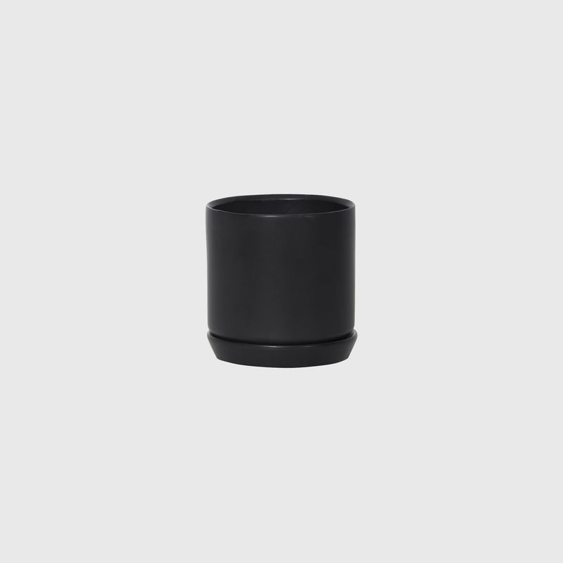 Potted SMALL Oslo Planter Jet Black