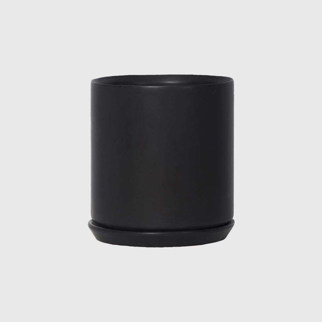 Potted XL Oslo Planter Jet Black