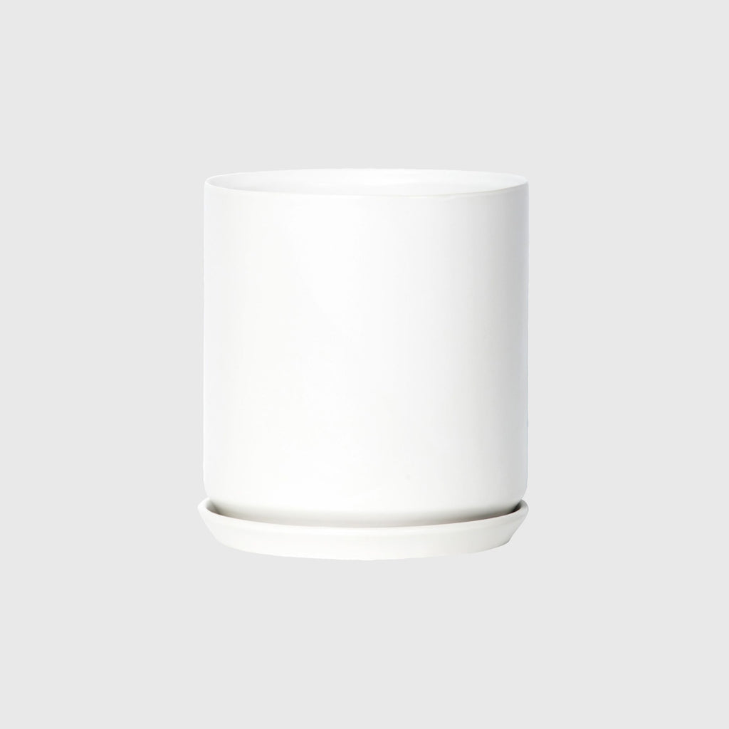 Potted XL Oslo Planter Ice White
