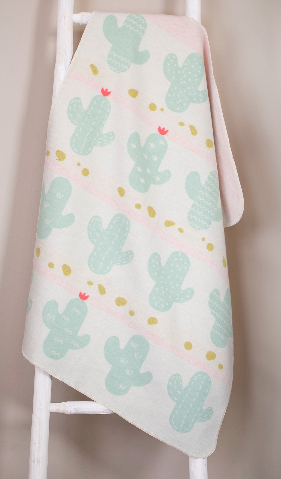 David Fussenegger Bassinet Blanket 'All Over Cactus'