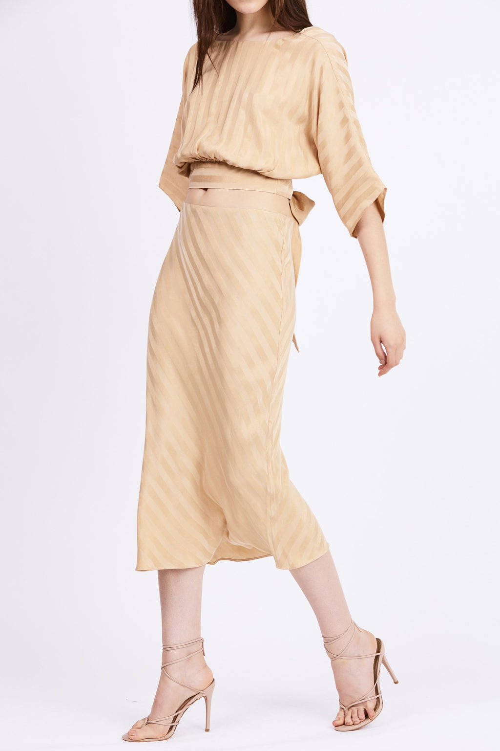 Third Form Bias Midi Slip Skirt - Tan