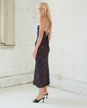 Third Form Bloom Bias Slip Dress - Rose Flower