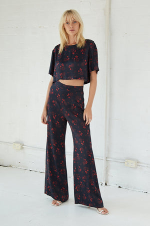 Third Form Bloom Trouser - Rose Flower