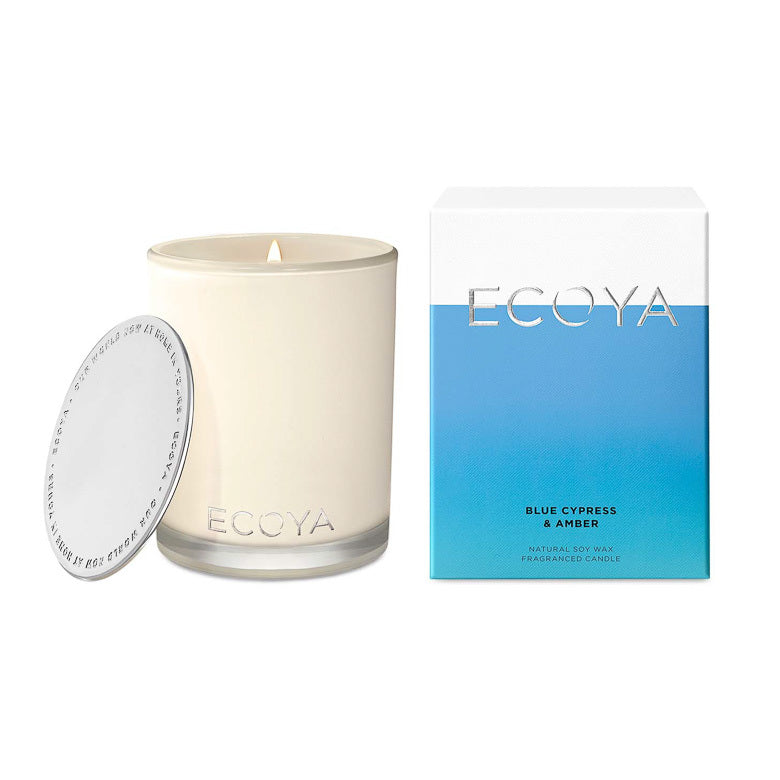 Ecoya Candle Madison Jar - Blue Cypress and Amber