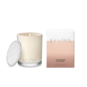 Ecoya Candle Madison Jar - Cedarwood and Leather