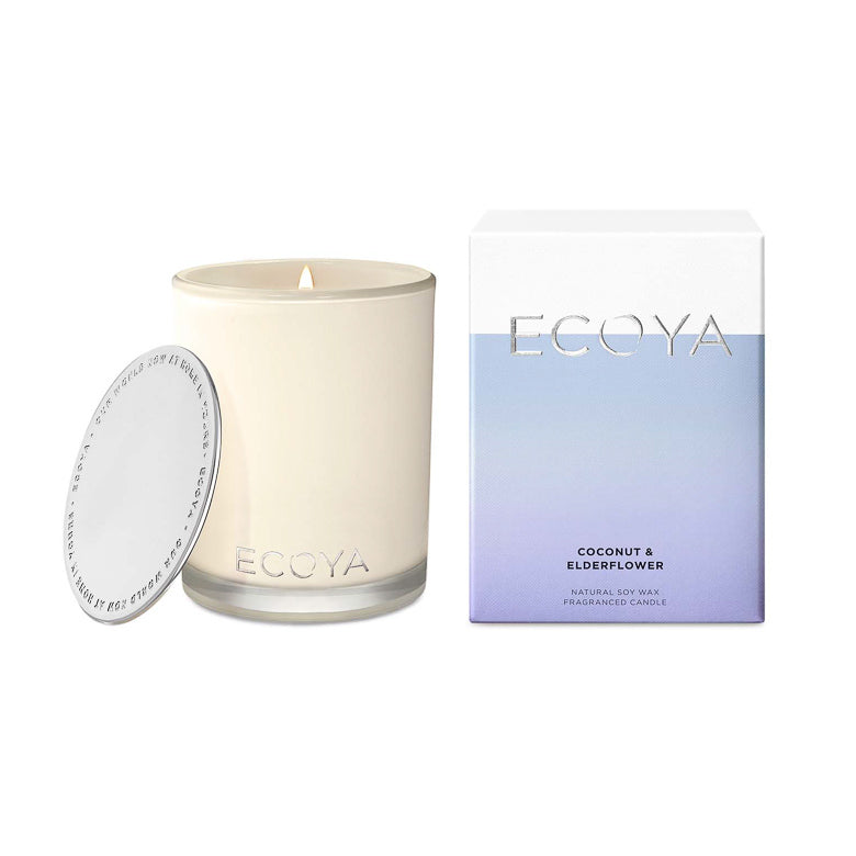 Ecoya Candle Madison Jar - Coconut and Elderflower