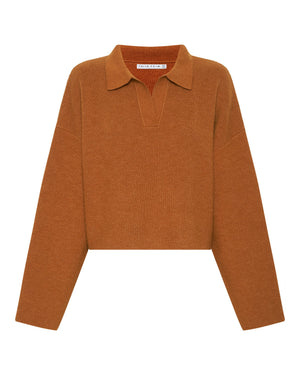 Third Form Oversized Collared Knit - Camel