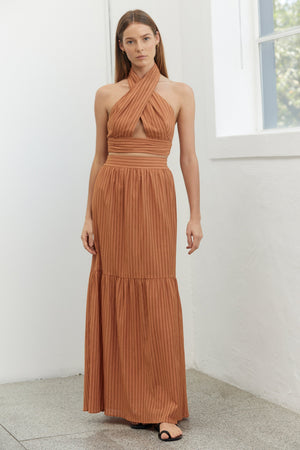 Third Form Crossing Over Maxi Skirt - Desert
