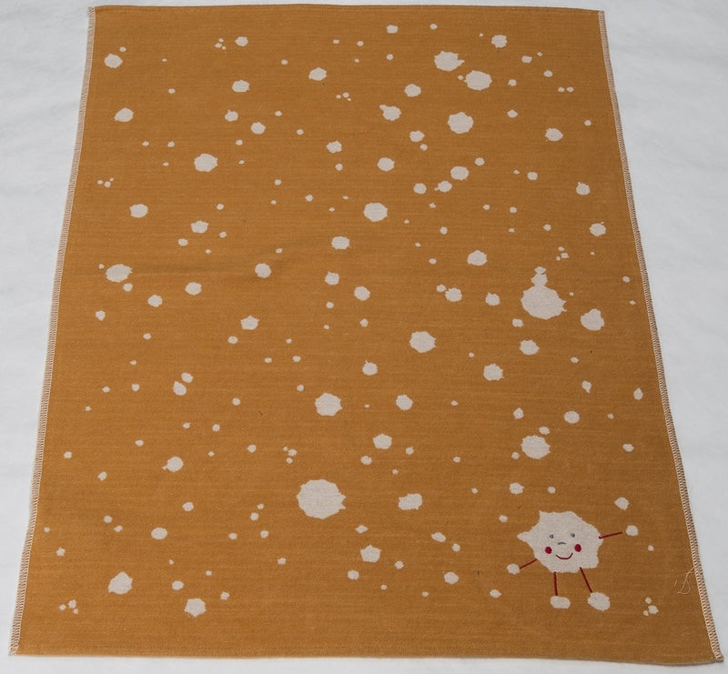 David Fussenegger Bassinet Blanket 'Gold Splashes'