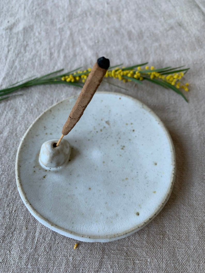 Splendid Wren handmade stoneware incense holder