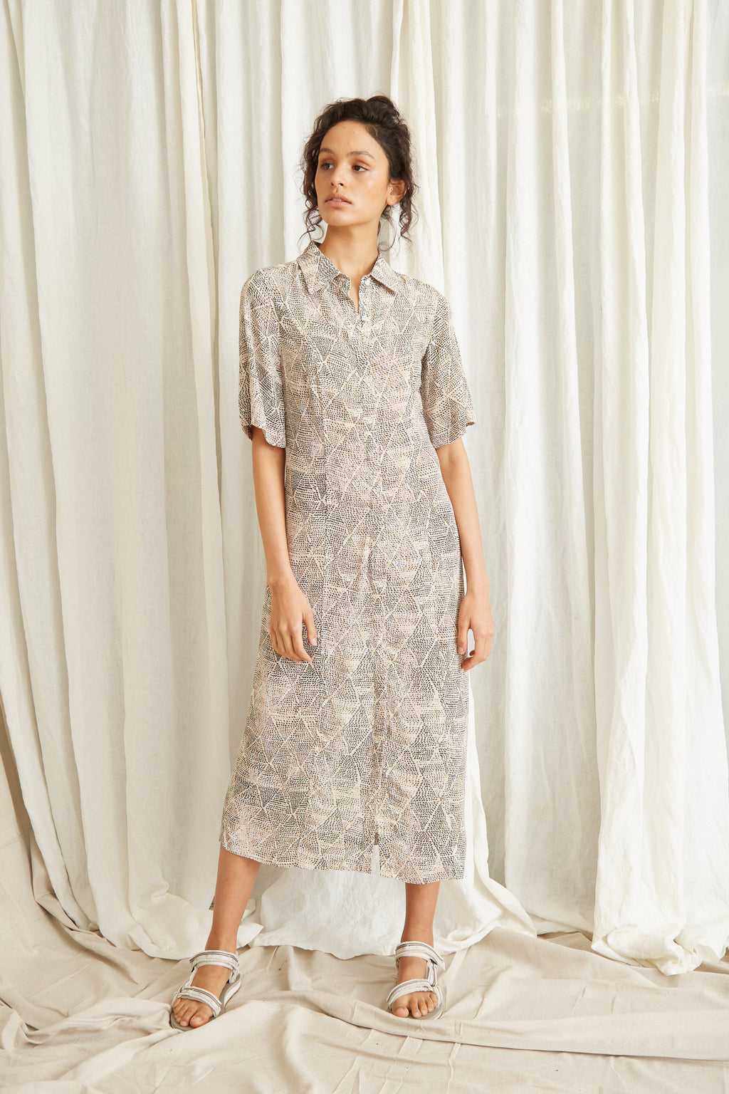 Third Form Intrepid Maxi Shirt Dress - Marrakech