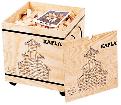 Kapla 1000 piece chest on wheels