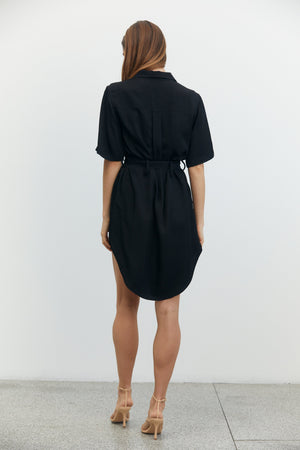 Third Form Lift Off Shirt Dress - Black