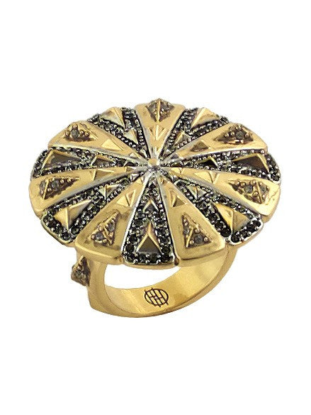 House of Harlow 1960 Ornamental Medallion Ring