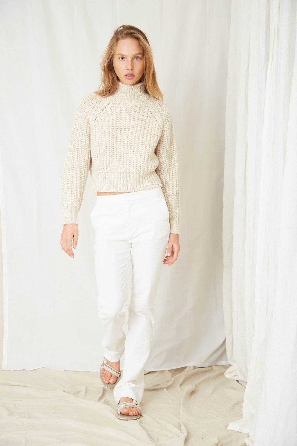 Third Form Own Beat Chunky Turtleneck - Shell