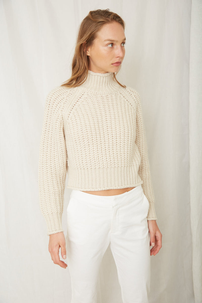 Third Form Own Beat Chunky Turtleneck Top - Sheel
