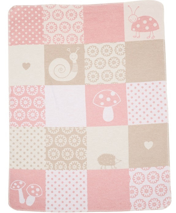 David Fussenegger Bassinet Blanket 'Pale Pink Patch'