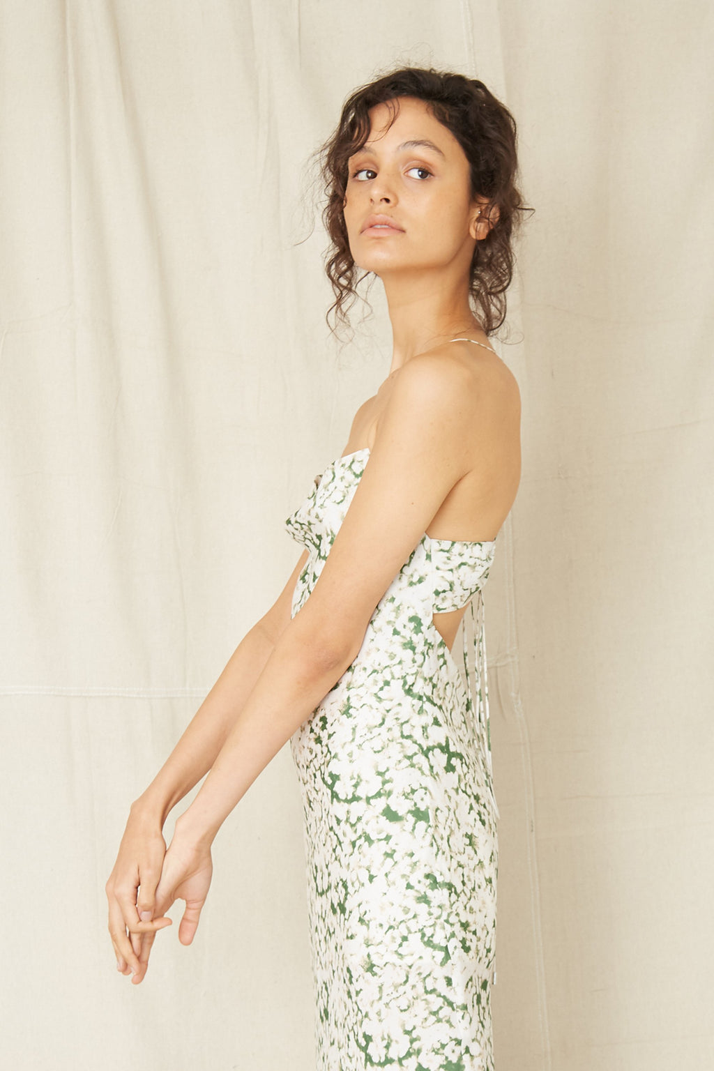 Third Form Pressed Flowers Bias Slip Dress - Floral