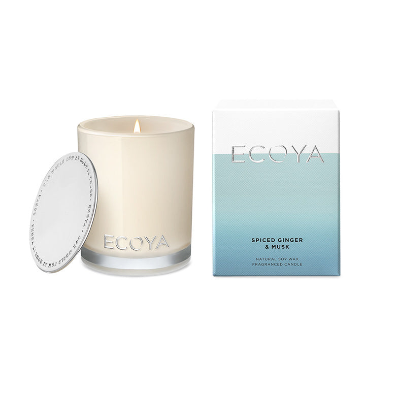 Ecoya Candle Madison Jar - Spiced Ginger and Musk