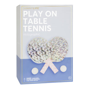 SunnyLife Play On Table Tennis Set - Holographic