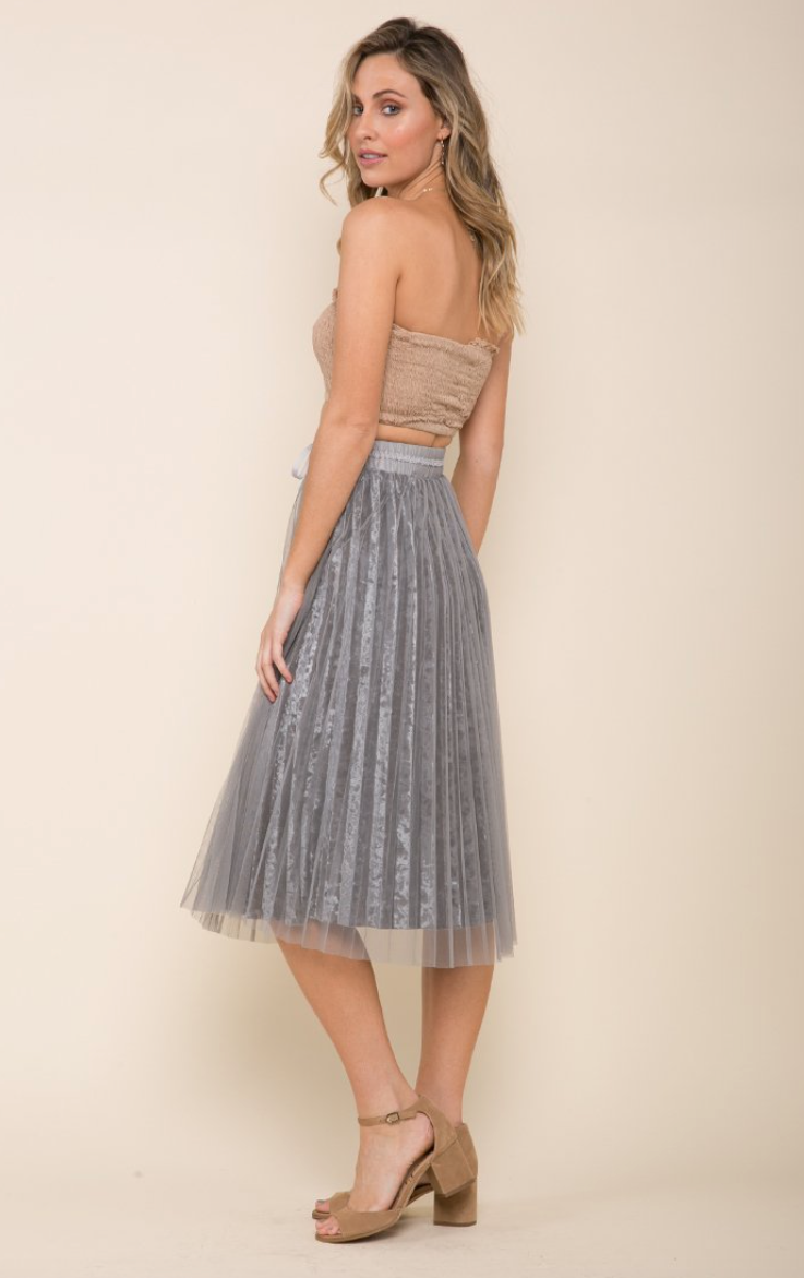 Raga Velvet Breeze Skirt - Grey