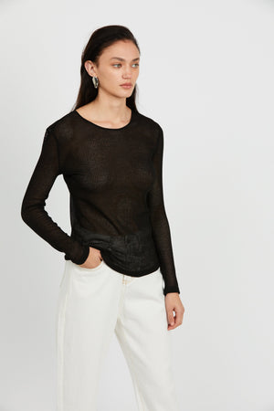 Third Form Venetian LS Top - Black